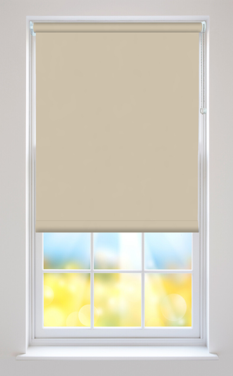 Bella Beige Blackout Roller Blinds Available Online In Uk