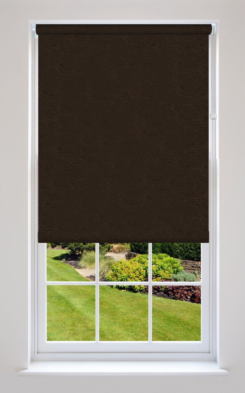 Hampton Mahogany Brown Roller Blinds Available Online In
