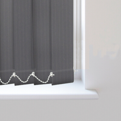Lines Charcoal Replacement Vertical Blind Slats Available