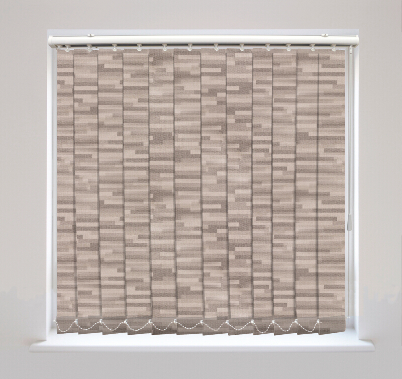 Podium Haze Metallic Blackout Vertical Blinds Available