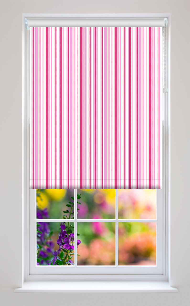 Yo Yo Cupcake Stripe Blackout Roller Blind Quality Made