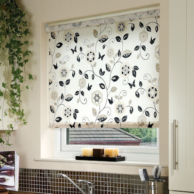 Digital Print Rollers Buy Beatrice Charcoal Roller Blinds