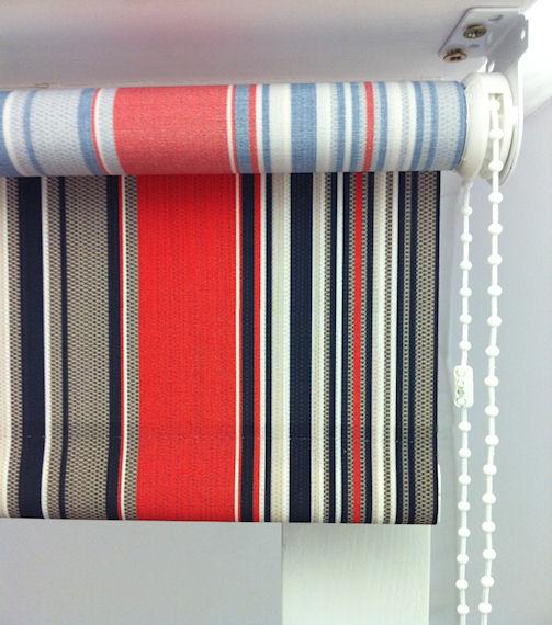 Hepburn Cranberry Stripe Roller Blinds