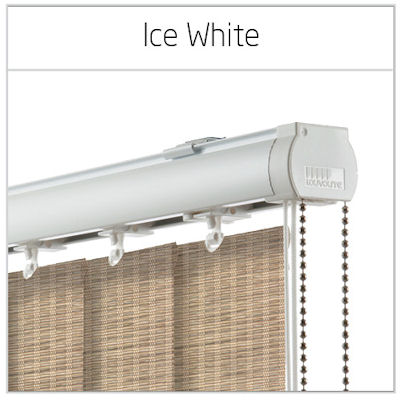 Vogue Ice White Vertical Blinds Headrails Only Available