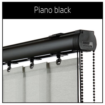 Vogue Piano Black Vertical Blinds Headrails Only Available