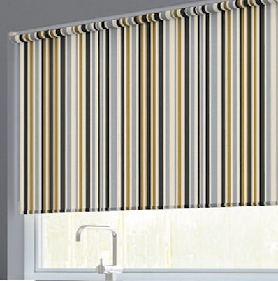 Spectrum Stripe Roller Blinds Buy Spectrum Gold Roller