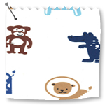 Roller Blinds Jungle Fun Blue