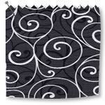 Roller Blinds Scroll Black\White