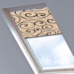 Colt Roto Blinds Scroll Black\beige(dimout)