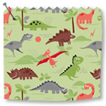 Roller Blinds Dino Green