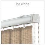 Vertical Blinds Headrails Only Vogue Ice White