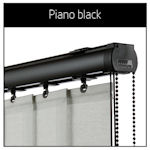 Vertical Blinds Headrails Only Vogue Piano Black