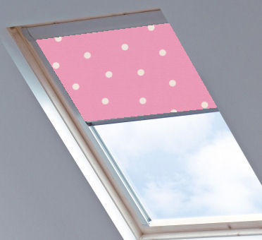 Fakro Blinds Polka Dot Pink